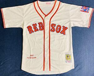 1967 Carl Yastrzemski Boston Red Sox Cream Jersey Size Men's Large