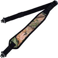 Camo 2 Point Gun Sling with Shoulder Padding Non-Slip Backing & Swivel