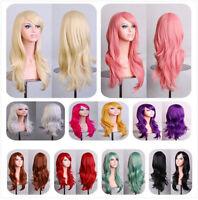 "28""/70cm Wig Long Wavy Curly Fancy Dress Party Full Cosplay Fashion Hair Ladies"