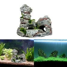 Mountain View Aquarium Rock Cave Tree Bridge Fish Tank Ornament Decoration Decor