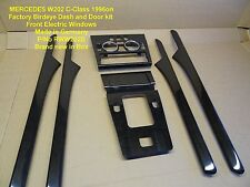 Mercedes W202 C Class BLACK WOOD DASH DOOR KIT with FRONT E/Windows 96on RWW202B