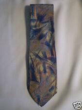 "Secours Blue Pink White Artsy Design 100% Silk Tie 58"""