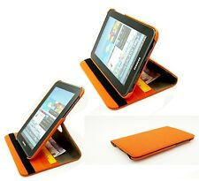 "Matt Textile Rotating Folio Case Cover Samsung Galaxy Tab2 7.0"" P3100 P3110"
