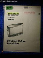 Sony Bedienungsanleitung KV 28WF3D / 32WF3D Color TV (#1749)