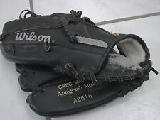 "Wilson Maddux A2616 10.5"" Baseball Glove Mitt Lht snap action faux leather"