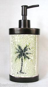 NEW SAND w/ MOSAIC PALM TREE SOAP,LOTION BATHROOM,KITCHEN DISPENSER