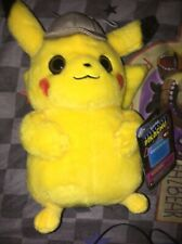 Detective Pikachu Wicked Cool Toys 8� Soft Plush With Hat 2019 Movie Pokemon New