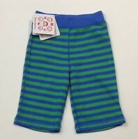 NWT HANNA ANDERSSON Blue/Green Striped Knit Pants Size 70 6-12 Months