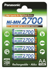 1 blister - 4 x Panasonic NiMH batteria Mignon AA 1,2V 2700 mAh TOP