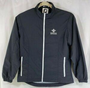 FootJoy Women's Black Full Zip Lined Long Sleeve Golf Jacket Windbreaker M