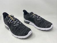 Nike Womens Air Max Sequent 3 Running Shoes Black/White/Dark Grey Size 11M US