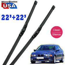 "22"" + 22"" Ford Quality Car Rubber Beam Windshield Wiper Blades Frameless J-Hook"