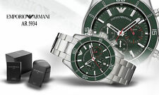 Emporio Armani AR5934 Green Dial Stainless steel strap Men's Watch