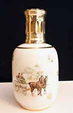LAMPE BERGER Porcelaine Revol S.Idécor à décors de calèche