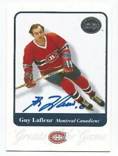 GUY LaFLEUR 2001-02 Fleer GOTG Greats of the Game Card AUTO Autograph Signed