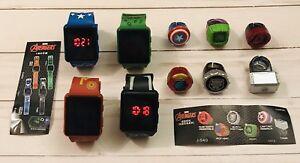 Marvel JAPAN Kids LED Watch & Ring Sets! Avengers Hulk/Thor/Iron/Panther/Captain