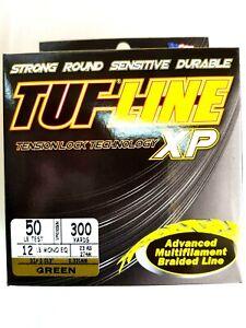 BRAID TUF-LINE XP 50lb green 300yards Spectra advanced multifilament line USA