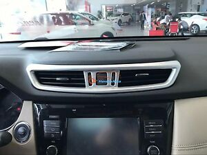 For Accessories Nissan X-Trail Rogue 2017 2019 Chrome middle control trim Cover