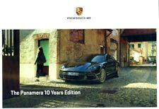 Porsche Panamera 10 Years Edition UK Sales Brochure - 10/19 - 22pgs