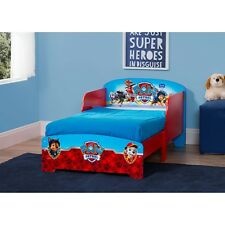 Little Kids Wood Toddler Bed For Boys Girl Paw Patrol Safety Rails Bedroom