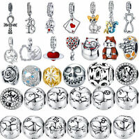 Fashion New Women Charm Beads 925 DIY Sterling Silver Pendant Fit Bracelet Gifts