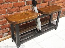 Bench with twin seat shoe rack bench umbrella stand / walking stick storage