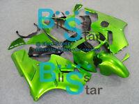 Green Fairings + Tank Cover Bodywork Set kit Kawasaki Ninja ZX12R 00-01 15 D3