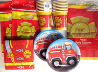 FIRE FIGHTER - Birthday Party Supplies Set Pack Kit w/ Loot Bags