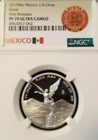 2019 MEXICO SILVER LIBERTAD 1/4 ONZA NGC PF 70 ULTRA CAMEO PERFECTION 1/4OZ