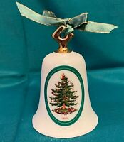 Spode Christmas Ornament Bell Christmas Tree Gold Handle 2001
