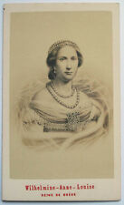 1860s LOUISE OF THE NETHERLANDS QUEEN OF SWEDEN AND NORWAY NEURDEINCDV PORTRAIT