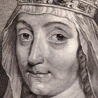 Portrait XVIIIe Marguerite II De Hainaut Hollande Impératrice Saint Empire