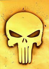 Punisher Skull Stencil! Craft airbrush custom shirt temporary tattoo