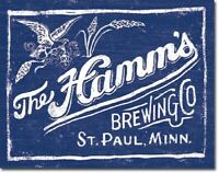 Hamm's Brewing Beer Logo Distressed Advertising Retro Wall Decor Metal Tin Sign