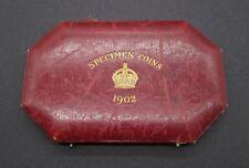 ROYAL MINT HARD CASE FOR EDWARD VII 1902 11 COIN PROOF SHORT SET