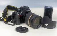 Nikon D5100 Digital SLR Camera - Black + Tamron 18-270mm Di II Lens + Charger