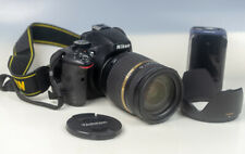 Nikon D5100 Digital SLR Camera - Black + Tamron 18-270mm Di II Lens + Charger