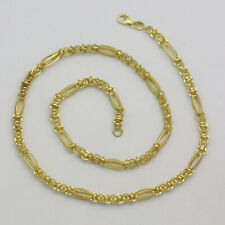 10K Yellow Gold Unique Fancy Link Chain 18 Inches Long
