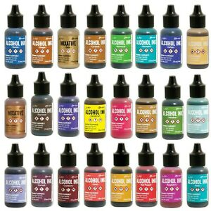 Ranger Tim Holtz ALCOHOL INK 14ml (93 Colors with Mixative Pearl) 2021 new stock