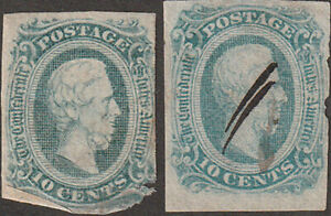 Confederate CSA GENUINE Ten Cent Stamp