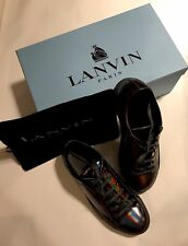 Mens Lanvin Low Top Sneaker Hologram Effect Leather Size 7M New