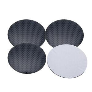 4Pcs Gridding Car Wheel Center Hub Cap Covers Badge Sticker Decal Accessories
