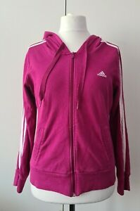Adidas Pink & White Active Jacket, Size 16, Womans (B38)
