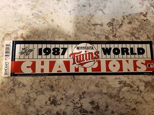 Minnesota Twins MLB 1987 World Series Champs Bumper Sticker by Wincraft