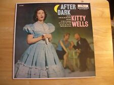 KITTY WELLS ~ AFTER DARK ~ PINK NOT FOR SALE SAMPLE ~ 1959 ~ 33 1/3  LP. RECORD