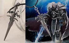 HALSKETTE SCHWERT DOLCH FANTASY Warcraft Devil Teufel silber Kette Neu TOP