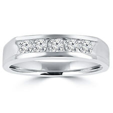 0.50 ct Men's Round Cut Diamond Wedding Band in 18 kt White Gold