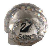 Swarovski Glass Crystal Scs Ball Black Swan Retired Paper Weight Euc