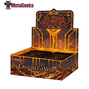 Flesh and Blood TCG Crucible of War Booster Box (Unlimited Edition) (new)