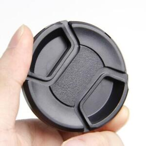 52mm Center Pinch Snap Front Lens Camera Cap Protection Covers With String Z5R2
